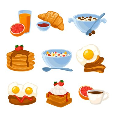 set of healthy food icons