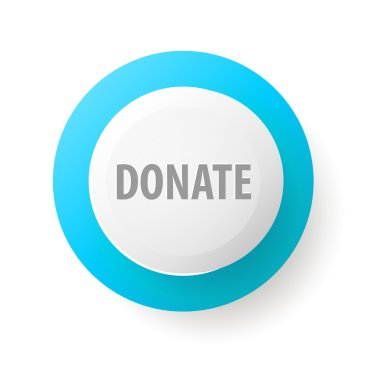 Donate web button isolated