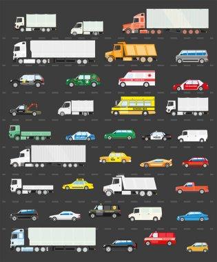 Traffic jam on road