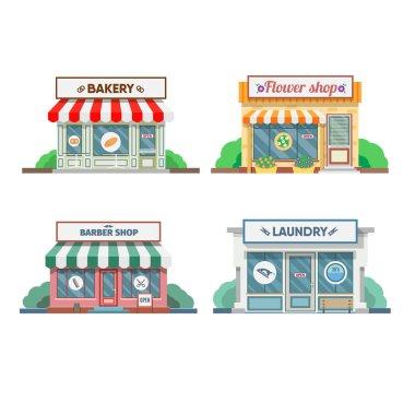 Set of commercial shops