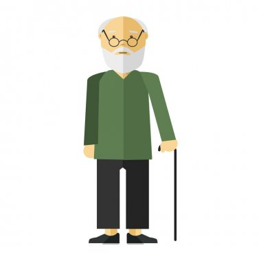 Cartoon character of elderly male person