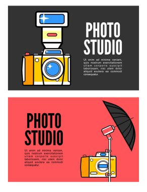 banners with equipment for photography