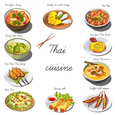 Collection of Thai food dishes
