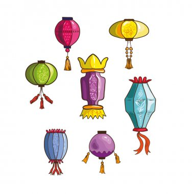 Set of Chinese lanterns