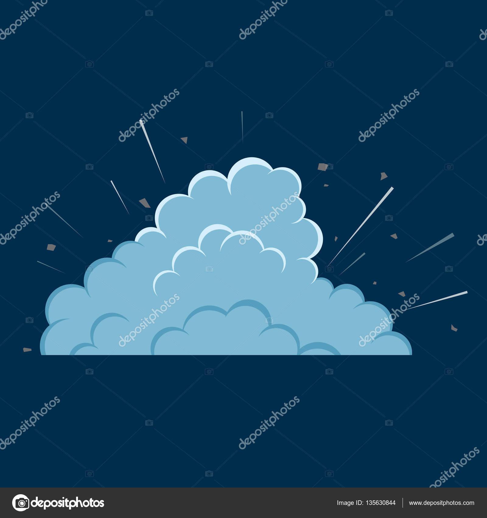 Cartoon bomb explosion with smoke — Stock Vector © Sonulkaster