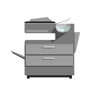 Flat printer copy machine icon