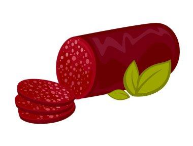 Salami or pepperoni icon