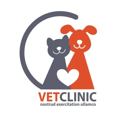 Veterinary Clinic logo with the image of pet.