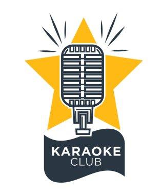 Karaoke club logotype set