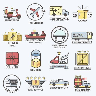 Fast Free Delivery Logo Set