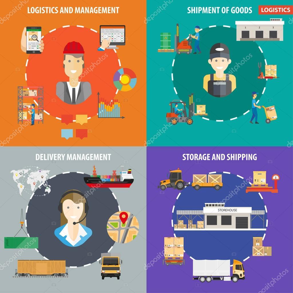 Logistics management for shipment