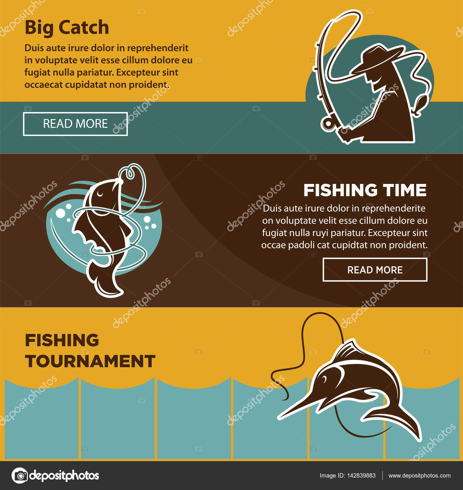 Fishing tournament time for big catch colorful poster stock vector fishing tournament time for big catch colorful poster stock vector saigontimesfo