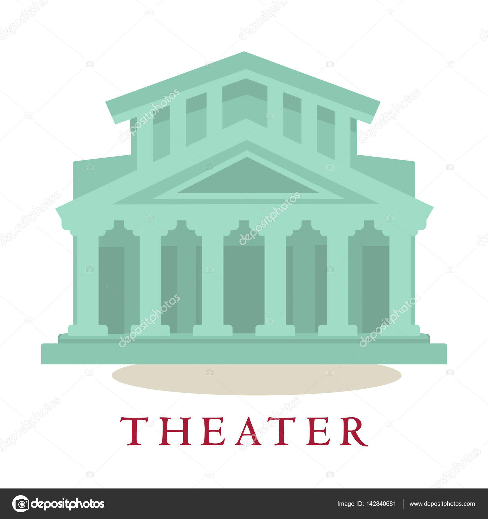 Theatre icon of building with columns stock vector theatre icon of building with columns sign symbol of modern theatrical architecture house isolated on white background vector illustration of theater buycottarizona Image collections