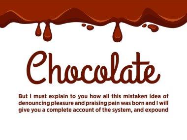 Chocolate streams flowing down