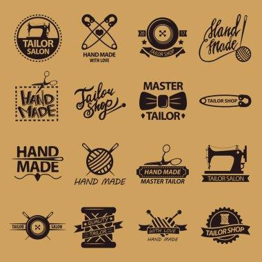 Set of logos for handmade shops.