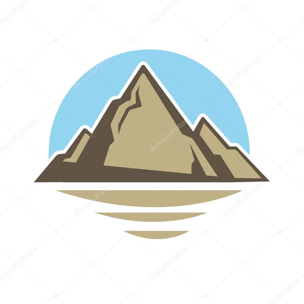 Alpine mount peak icon