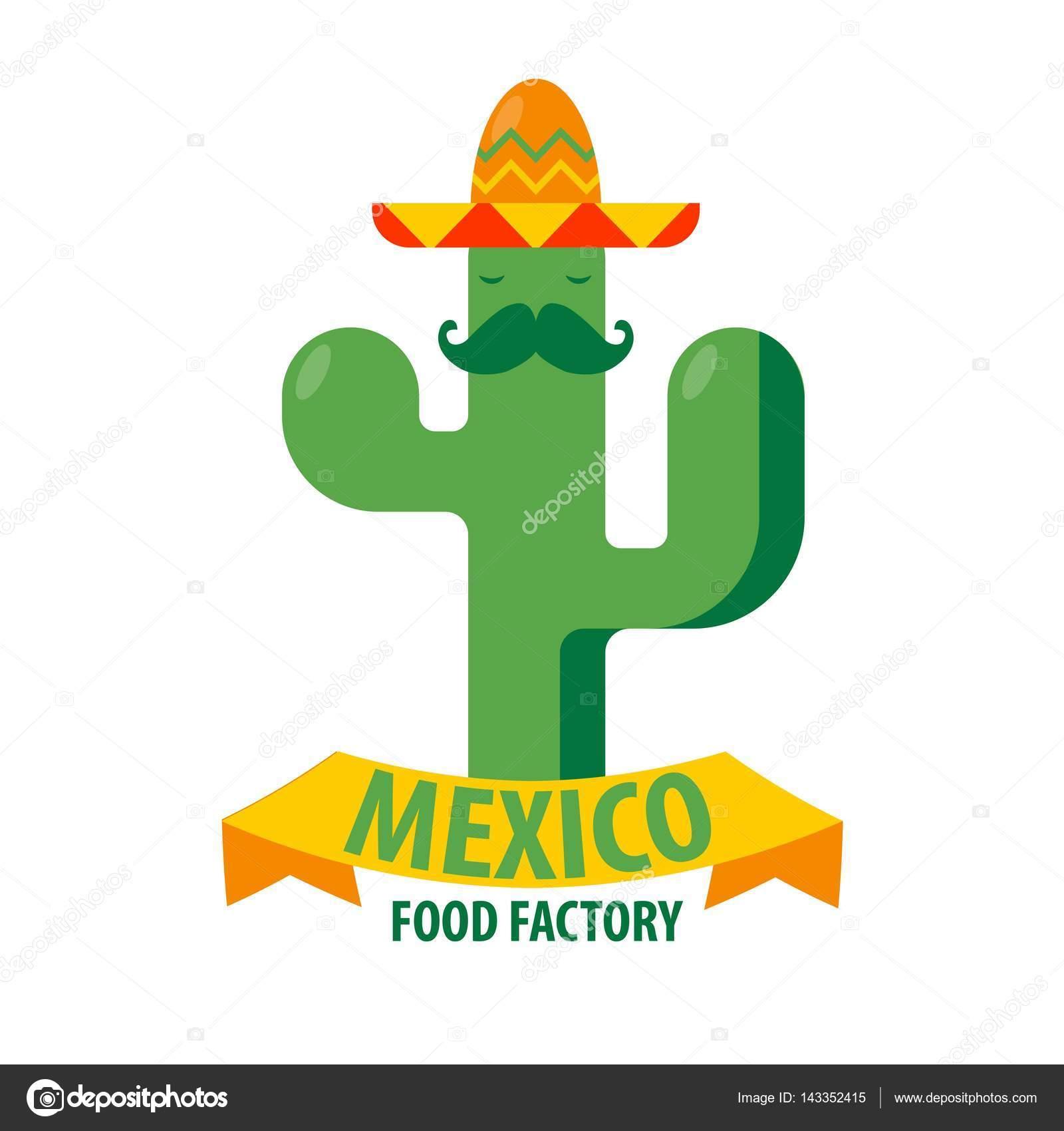 Plantilla de icono de restaurante mexicano — Vector de stock ...