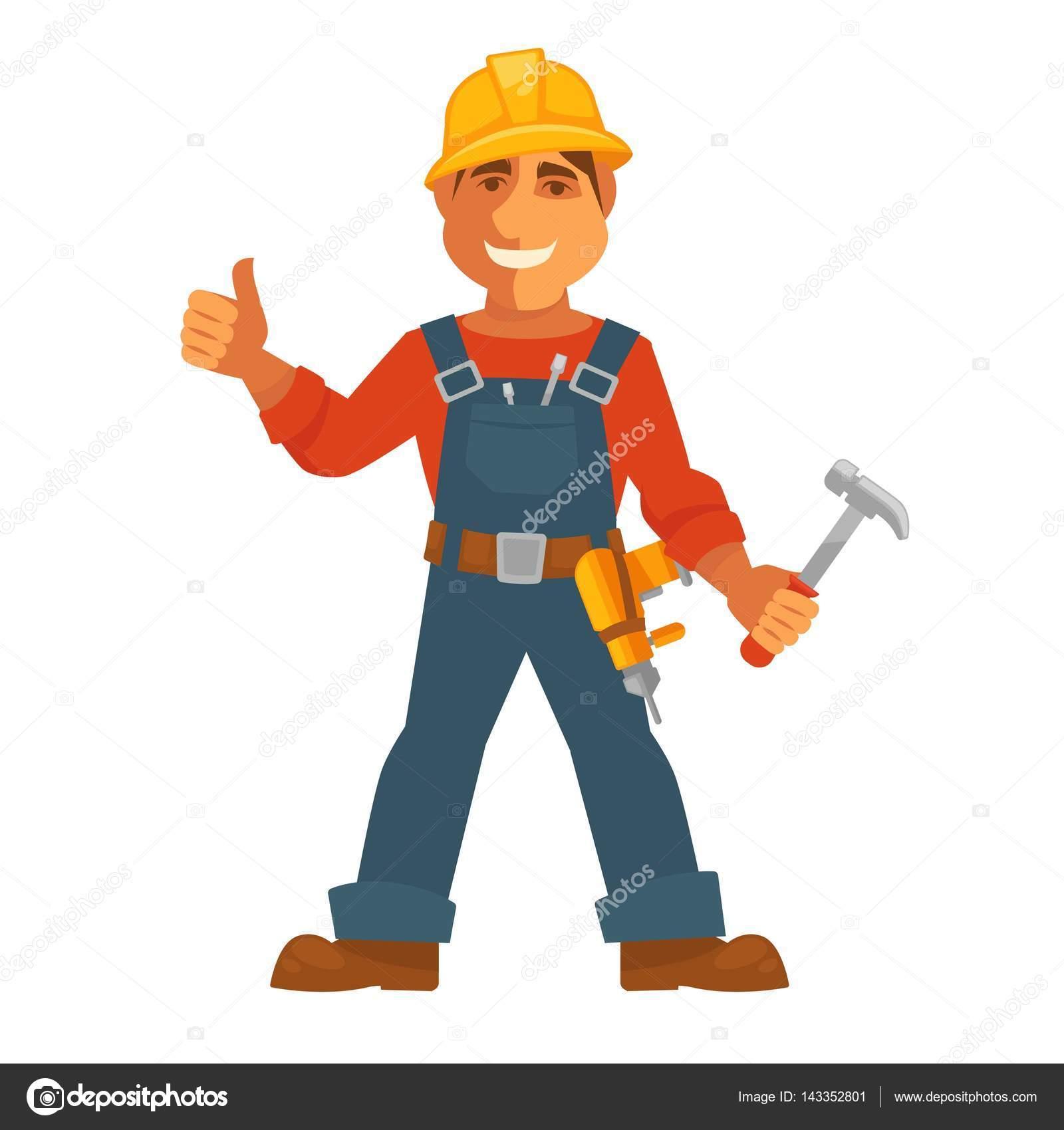 Constructor o el hombre constructor de la casa vector de - Constructor de casas ...