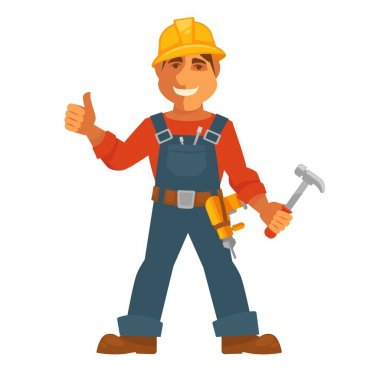 Builder or house constructor man