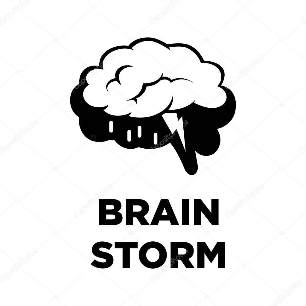 Brain storm creative icon