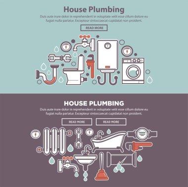 House plumbing web poster