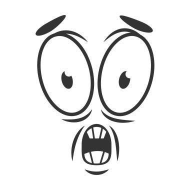 Shocked emotion icon logo