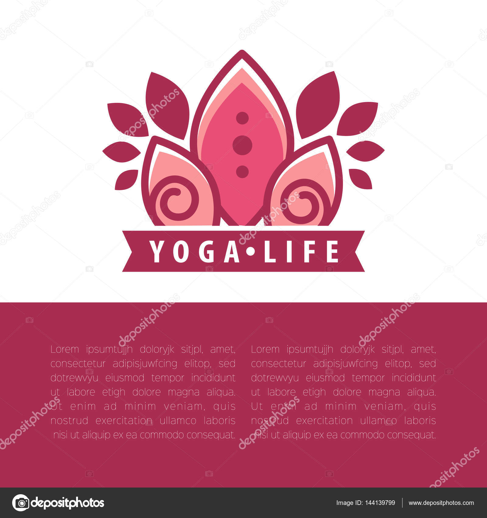Plantilla de concepto de yoga — Vector de stock © Sonulkaster #144139799