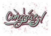 Gratulace nápis s konfety
