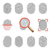 Fotografia Icone di obbligazione di impronte digitali