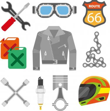 Accessories of racer clothing