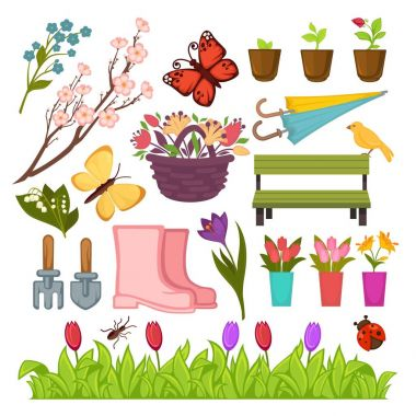 Spring gardening flowers