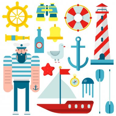 Marine nautical sailor symbols