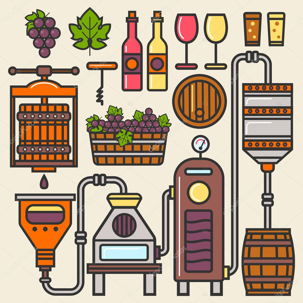Wine production line