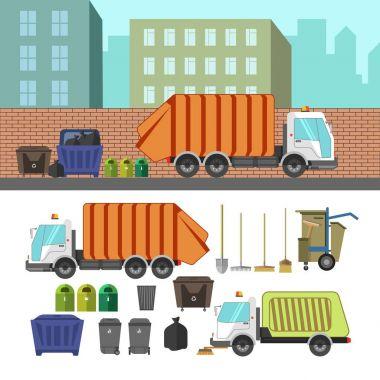Process of taking of garbage