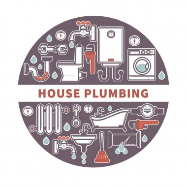 House plumbing firm label