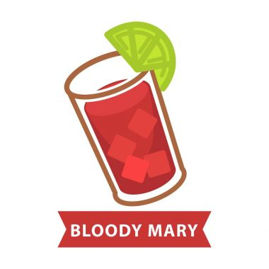 Bloody Mary with ice cubes