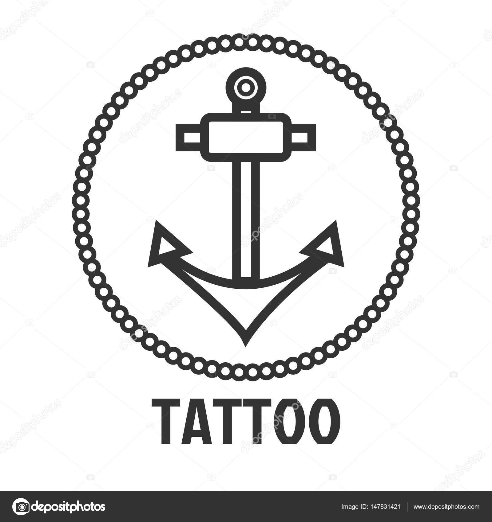 タトゥー スタジオのロゴのテンプレート ストックベクター