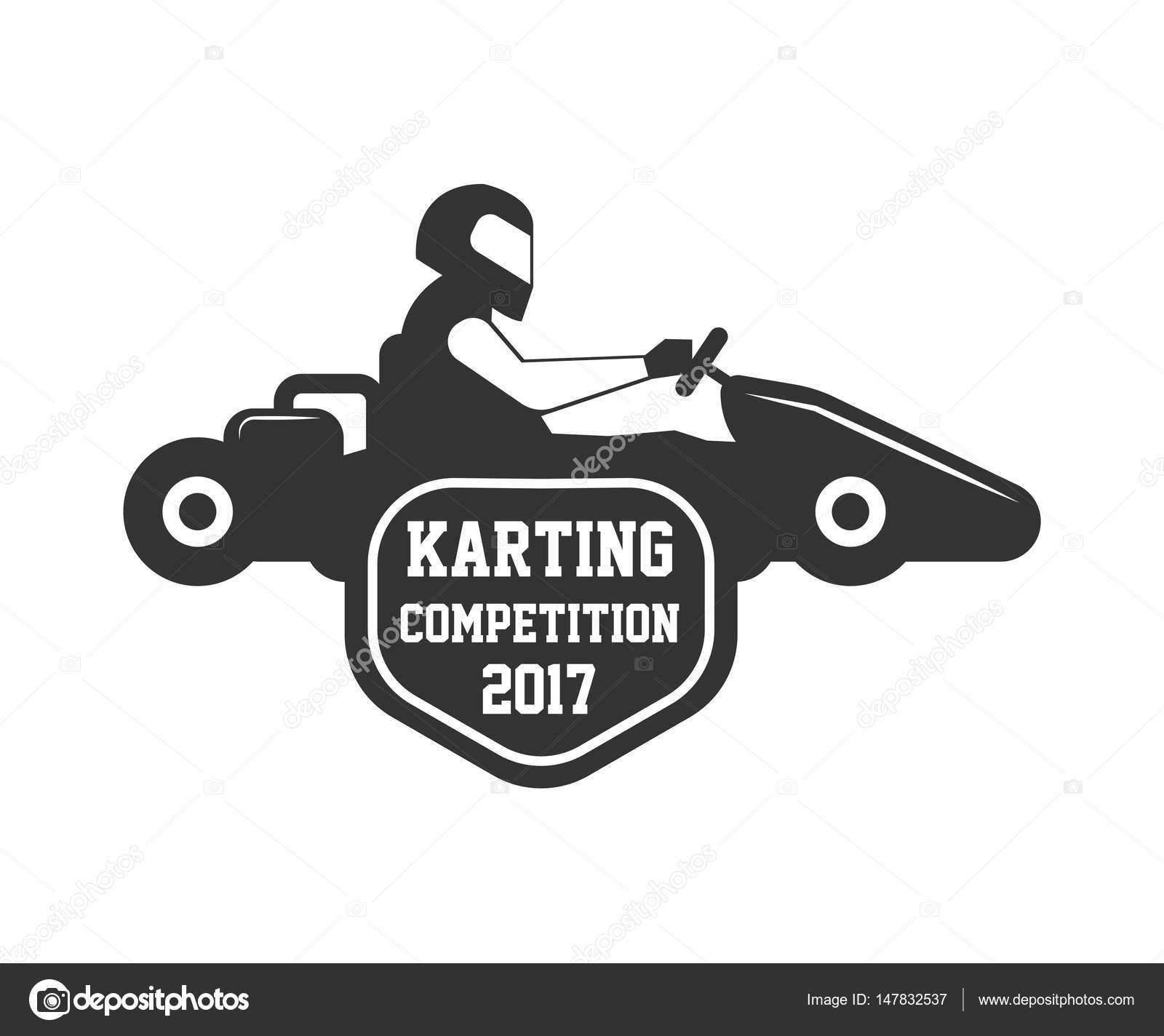 Plantilla de logotipo de la competencia de karting — Archivo ...
