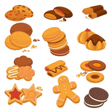 Cookies and biscuits icons