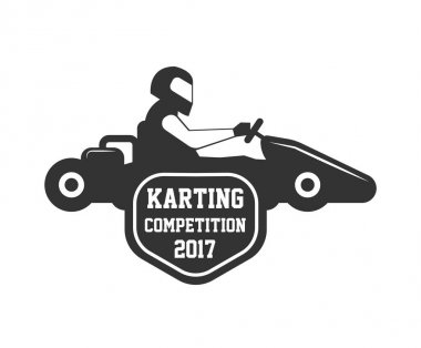 Karting competition logo template