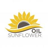 Fotografie organic sunflower oil logotype