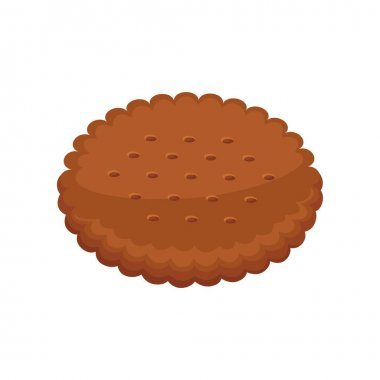 Cacao cracker in flat design