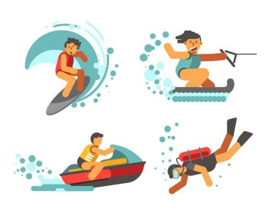 Summer water healthy activities