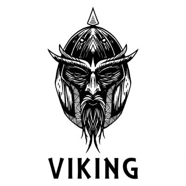 Viking scandinavian ancient warrior head