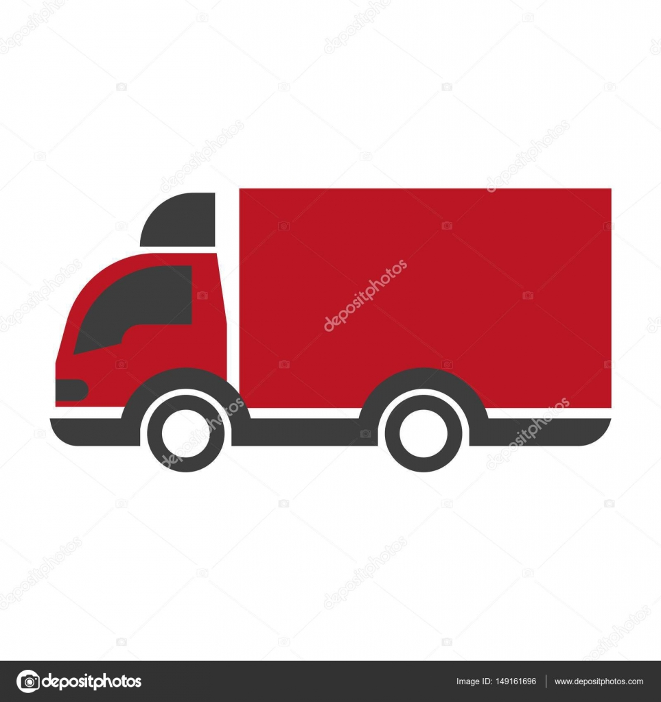 1016c9c0f2 Car with trailer delivery concept icon vector illustration. Transportation  vehicle symbol of land shipping in flat design. Company logotype transport  item ...