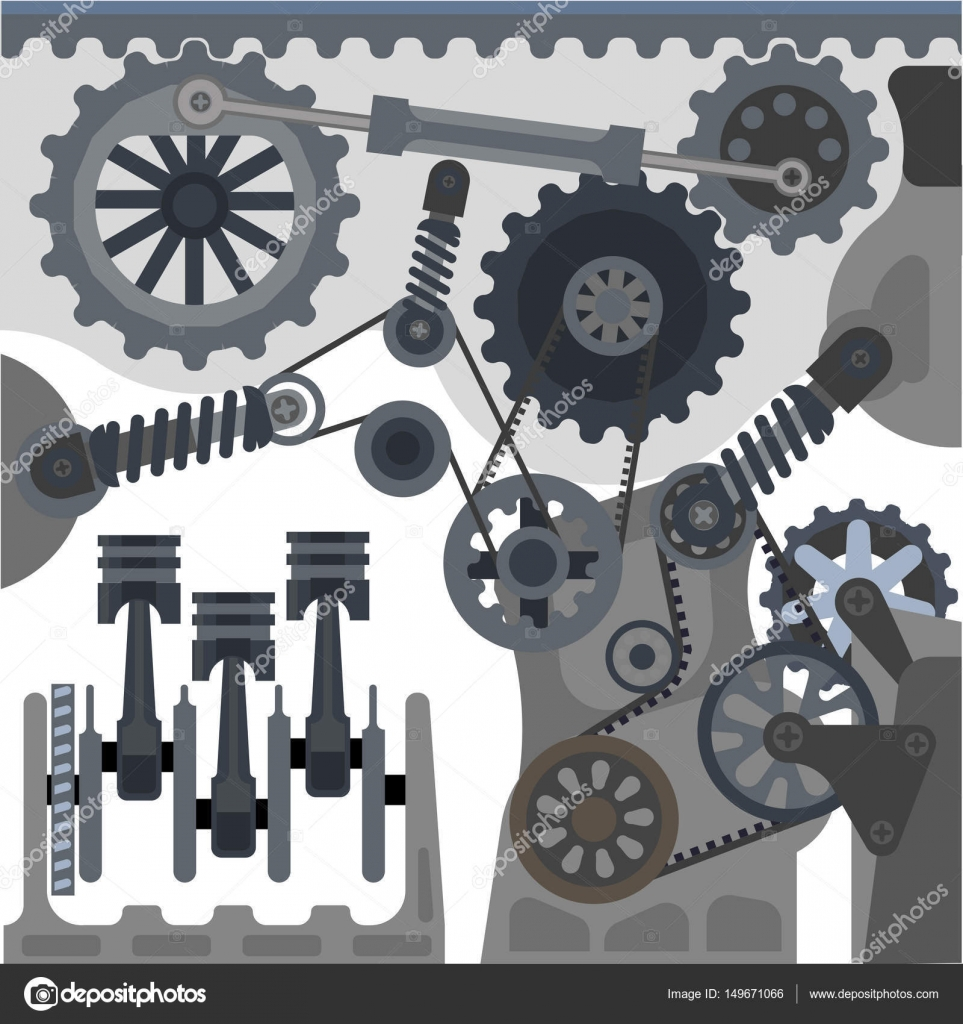 Auto-Motor-Mechanismus — Stockvektor © Sonulkaster #149671066