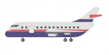 Passenger aircraft illustration