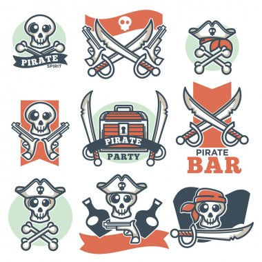 Pirate spirit logo emblems