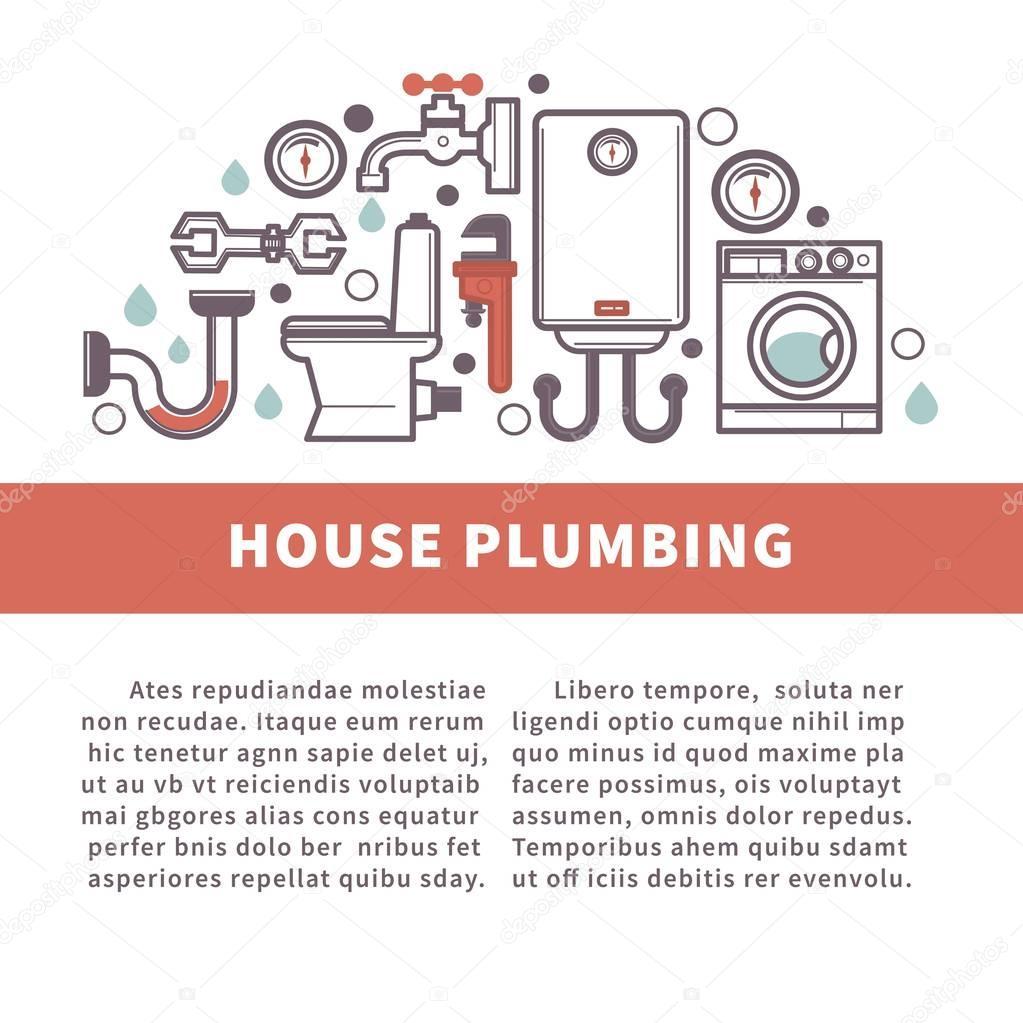 House bathroom and kitchen plumbing