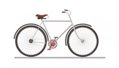 Gray colored bicycle